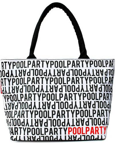 Модная женская белая сумка POOLPARTY pool-stream-white