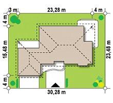Проект современного европейского дома № 5,5