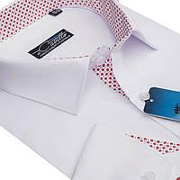 """Яркая мужская рубашка """"Castello white"""" , фото 1"""