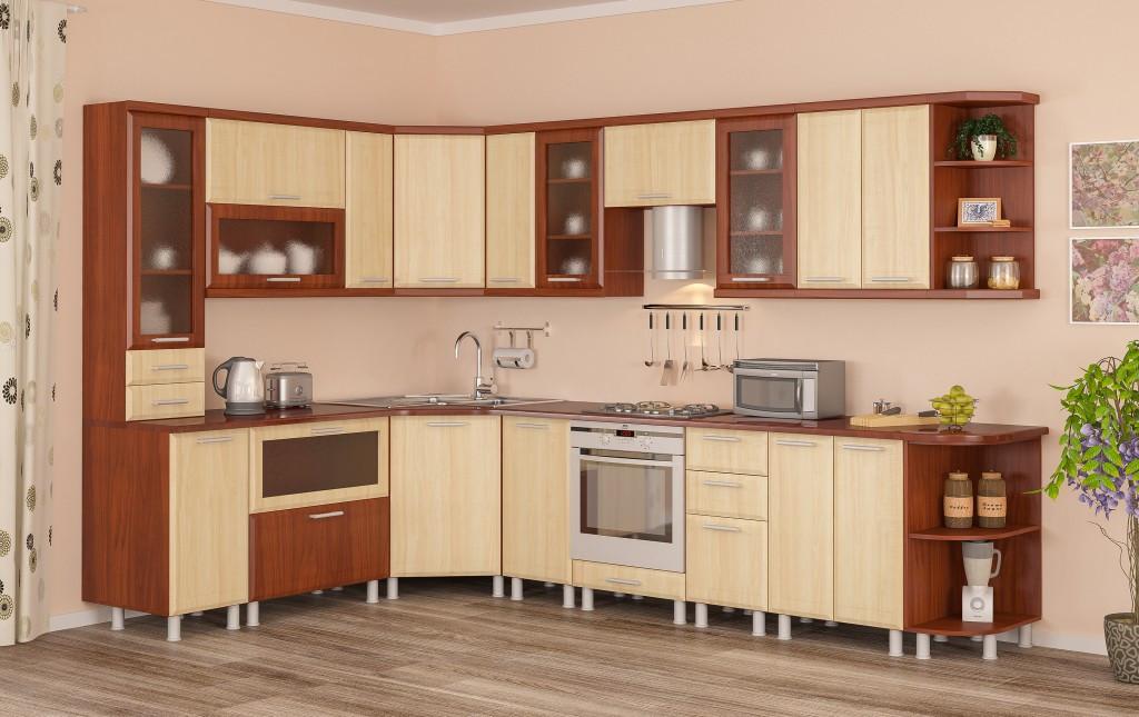 Кухня модульная Терра плюс Мебель-Сервис 2100х2900 мм