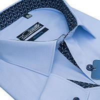 "Мужская рубашка морского цвета ""Castello blue"" , фото 1"
