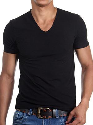 Чоловіча футболка Doreanse Cotton Basic 2810 чорна