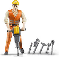 Bruder Фигурка мужчины  строителя с аксессуарами ( 60020)