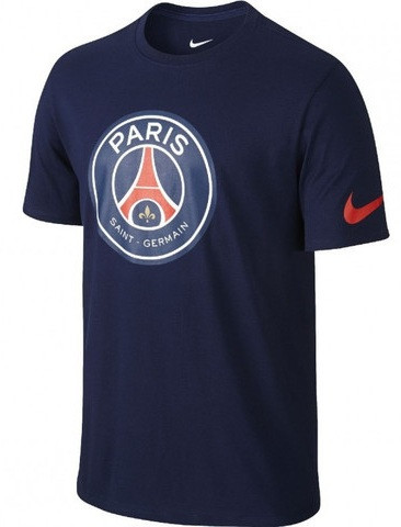 Футболка Nike Paris Saint Germain Crest 742175-410 (Оригинал)
