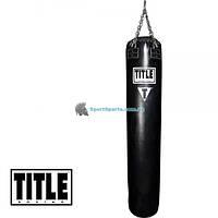 Боксерский пустой мешок из натуральной кожи TITLE Boxing Leather