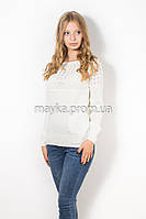 Кофта пуловер женская белая Кристина р.46