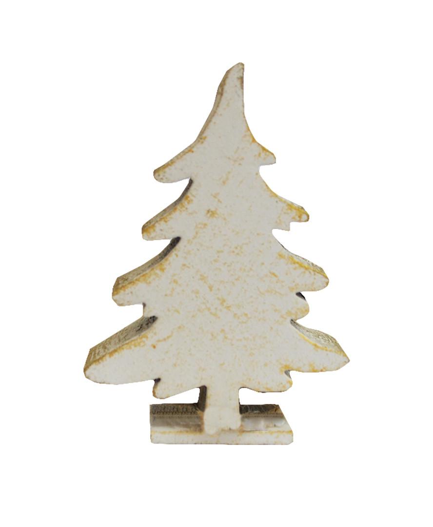 Декоративная игрушка Елка белая 6 см