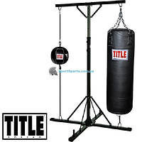 Комплекс стенд с боксерским мешком и грушей TITLE Boxing