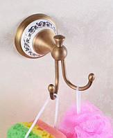 Крючок в ванную комнату для полотенец /халатов бронзовый Deco бронза