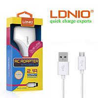 Сетевое зарядное устройство LDNIO A2268+кабель micro USB