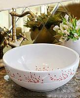 Умывальник чаша накладной ( раковина керамическая ) для ванны Sacura