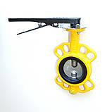 Задвижка поворотная Баттерфляй для газа RBV-16-40(G) Ду50 Ру16 (P204), фото 4