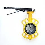 Задвижка поворотная Баттерфляй для газа RBV-16-40(G) (P204) Ду400 Ру16 с редуктором, фото 3