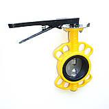 Задвижка поворотная Баттерфляй для газа RBV-16-40(G) (P204) Ду500 Ру16 с редуктором, фото 2