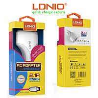 Сетевое зарядное устройство LDNIO A2268+кабель Lightning