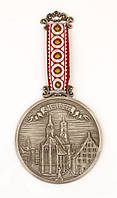 Оловянное панно, настенный барельеф на тесьме, олово, Германия, STUTTGART, фото 1