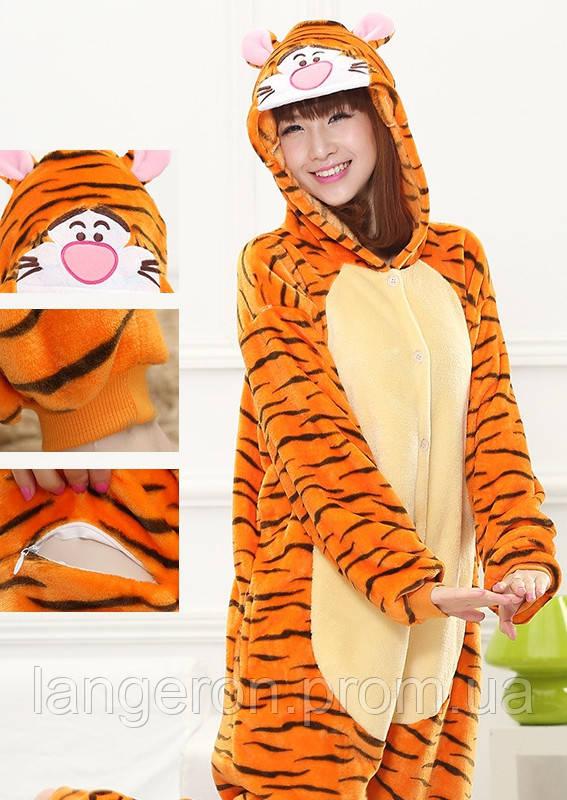 Кигуруми тигр на рост 170-180 kigurumi костюм XL тигра пижама 3c65783040b97