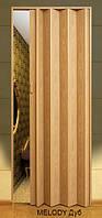Дверь-гармошка пластиковая MELODY (дуб) 2030х820 мм