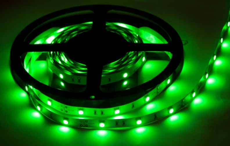 Светодиодная Led лента SMD 5050 на 30 диодов в 1-м метре, 7,2 Вт/1м, зеленый цвет, не герметичная