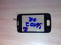 Samsung S6102 сенсор black orig с клейкой лентой