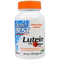 Doctor's Best, Lutein with OptiLut, 10 мг, 120 вегетарианских капсул