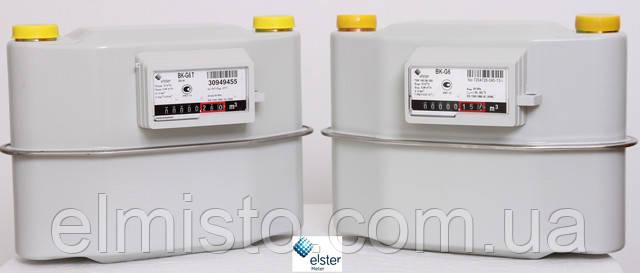 описание и фото  мембранного счетчика газа ELSTER BK G6.