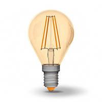 LED лампа Filament светодиодная VIDEX G45FA 4W E14 2200K 220V бронза
