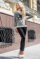 Молодежный свитшот 1875 Seventeen серый 44-50 размеры