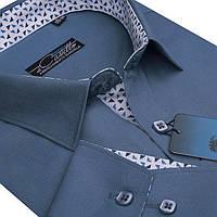 "Стильная рубашка для мужчин ""Castello dark blue"""