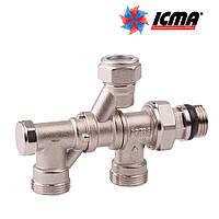 Icma Кран радиаторный с поворотным присоединением на 360° 1/2*3/4