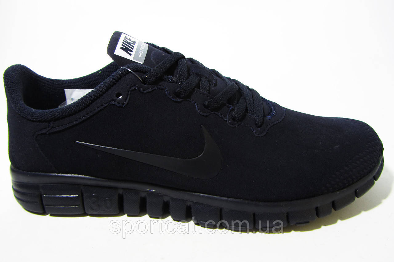 Мужские кроссовки Nike, замша, синие