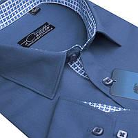 "Стильная рубашка для мужчин ""Castello Dark blue 2"""