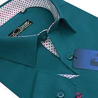 "Насыщенная рубашка для мужчин ""Castello green"""