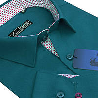 "Насыщенная рубашка для мужчин ""Castello green"" , фото 1"