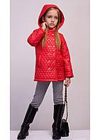 Стильная детская демисезонная куртка Sofia Shelest, курточка красного цвета