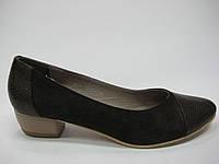 Кожаные женские туфли на широком каблуке ТМ Камея, фото 1