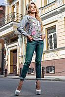 Молодежный свитшот 1868 Seventeen   серый  44, 48, 50 размеры