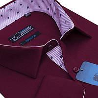 "Мужская рубашка бордовая ""Castello bordo"""
