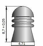 Пули СуперМагнум. Пули Шмель, для пневматического оружия, пули 0,91г, 350 шт/уп. 4 5 мм пули Шмель, фото 2