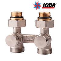 Icma Двухтрубный вентиль для панельного радиатора прямой