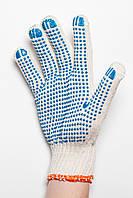 Перчатки рабочие 4 нити c ПВХ - точкой, фото 1