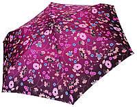 Женский зонт Zest МИНИ Цветочный принт фиолет ( механика, 5 сложений ) арт. 55526-11