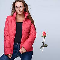 Демисезонная женская куртка на молнии  GT 23225 Малиновый