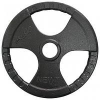 Диск для олимпийской штанги с хватами NEWT O52 мм 1.25-25 кг