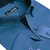"Насыщенная мужская рубашка ""Castello matt blue"""