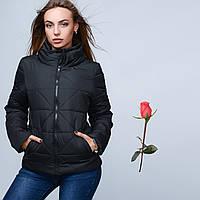 Демисезонная женская куртка на молнии  GT 23225  Черный