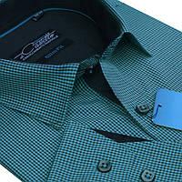 Красивая рубашка тёмно-зеленого цвета