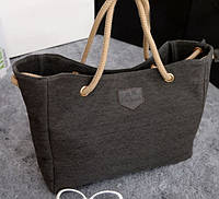 Практичная сумка. По низкой цене. Качественная сумка. Пляжная Kim Joseph Серый