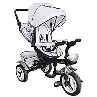 Детский трехколесный велосипед Турбо Трайк М-3200 с надувными колесами и поворотным сиденьем