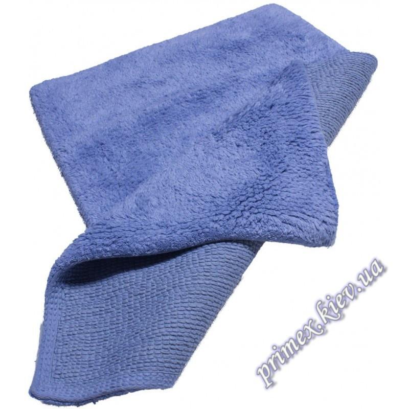 """Хлопковый коврик для ванной """"Гладь"""", цвет голубой"""